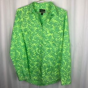 J. Crew boy shirt tropical green 8